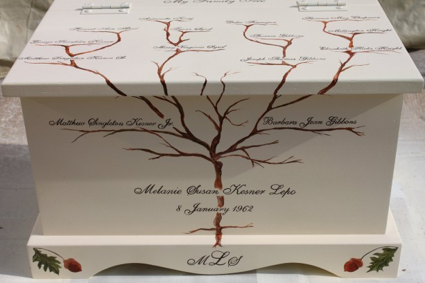 Family Tree Keepsake Chest Box
