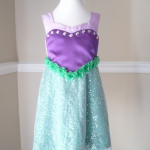 Little Mermaid Dress for Girls 1T-4T