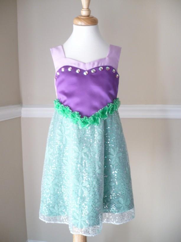 Little Mermaid Dress for Girls 1T-4T