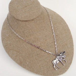 Silver Moose Necklace