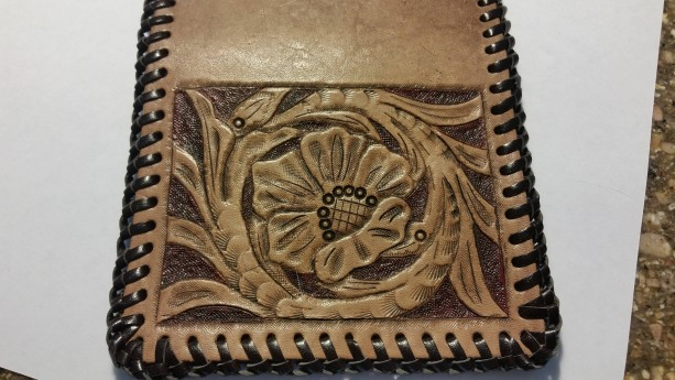 Handtooled Sheridan Style card wallet/ Id holder