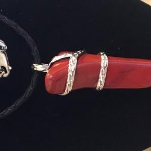 Jasper sterling silver pendent