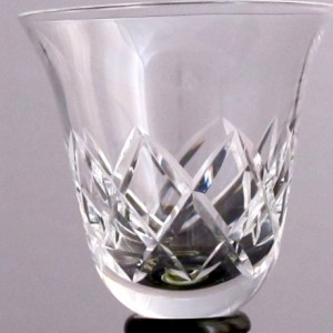 Wine stopper tasting glass Hand cut crystal