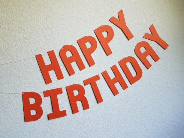 Orange Happy Birthday Banner