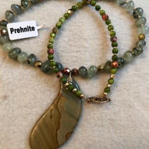"Lake Michigan handmade beaded necklace 22"" long"