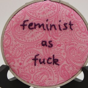 Feminist as F*ck Modern Embroidery Hoop Wall Hanging Decor. Made to Order and Can Be Customized!