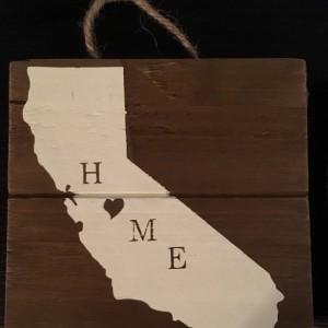 Mini Rustic State Signs