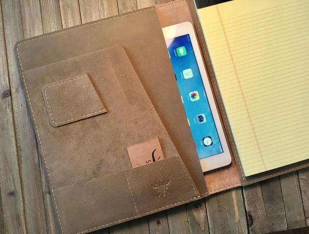 the latest 9da8e 8e277 Personalized iPad Leather Padfolio, retina leather Portfolio, ipad air 2  case, iPad Pro case, ipad cover, legal pad portfolio