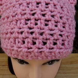 Light Pink Pussy Cat Hat with Kitty Ears, PussyHat, Pussy Hat, Handmade Soft 100% Acrylic Crochet Knit Winter Solid Pink Beanie Women's Protest March 2017, Ready to Ship in 2 Days