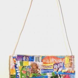 Patchwork Shoestring Handbag