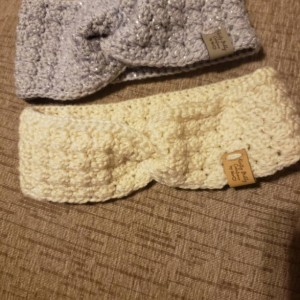 New Beautiful crochet twisted headband/ earwarmer