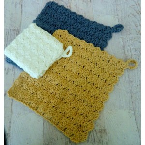 Crocheted  Cotton Face Cloth