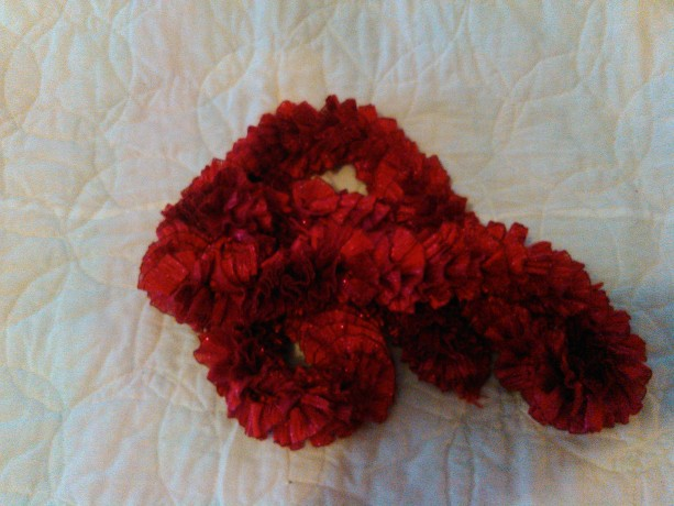 Red ribbon scarf