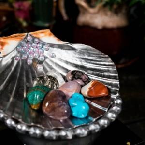 Large Mirrored Seashell Bowl