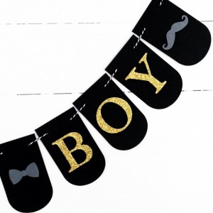 Its A Boy Banner - Baby Boy Shower Decorations - Bowtie Banner - Mustache Banner