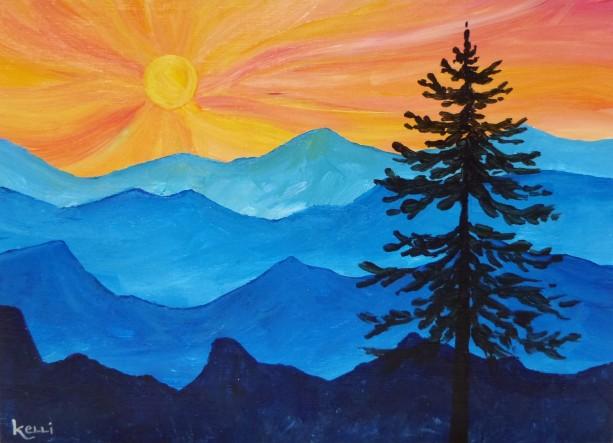 """The Lone Pine"" original painting"