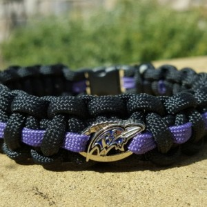Baltimore Ravens Paracord Bracelet NFL Officially Licensed Charm