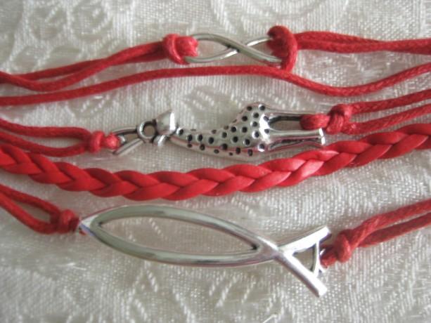Infinity bracelet Fish symbol, infinity symbol, Giraffe in silver tone