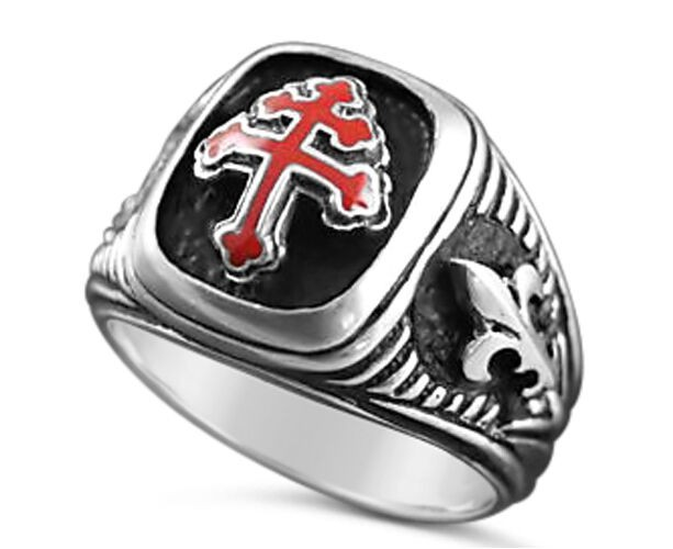 Cross of Lorraine Special forces sterling silver ring