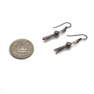 Southwestern Sterling Silver Squash Blossom Earrings