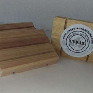 100 Cedar wooden Soap Dishes
