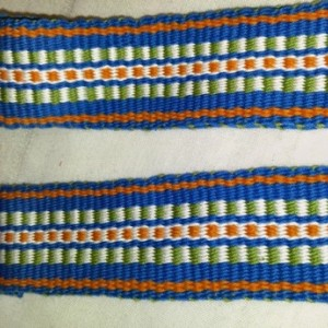 Handwoven Guitar Strap, Acoustic Guitar Strap, Electric Guitar Strap, Banjo Strap, Bass Strap, white, turquoise, green and orange, 2""