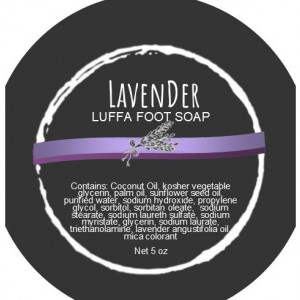 Lavender Luffa Foot Soap (Set of 2)