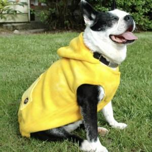 """XS yellow pattern hoodie 15-16"""" girth"""