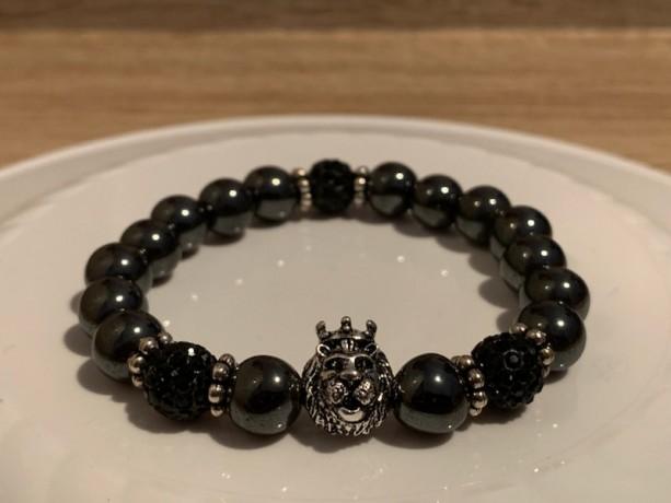Lion Pride Bracelet-Blk/Hematite