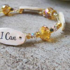 Charlotte Mason Motto Bracelet, Amber