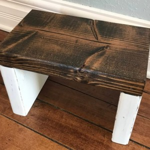 Toddler Step Stool / Single Step / Kid Step Stool / Wooden Step Stool / Rustic Step Stool / Kitchen Step Stool / Bathroom Step Stool