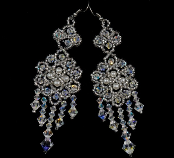 Preciosa crystal beaded bridal chandelier earrings aftcra preciosa crystal beaded bridal chandelier earrings crystal beaded earrings crystal beaded wedding chandelier earrings aloadofball Image collections