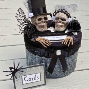 Gothic Wedding Card Box,Gothic wedding dress,Gothic wedding invitations,Gothic wedding rings,gothic wedding decor,wedding card box with slot