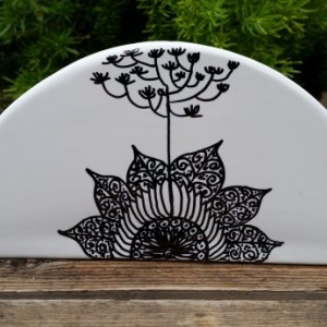 Napkin Holder with Beautiful Hand-Drawn Designs