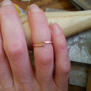 Crossroads copper midi pinky ring