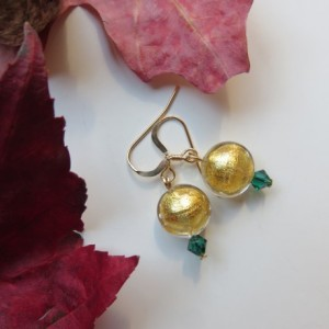 Sun Drop Earrings with Swarovski emerald