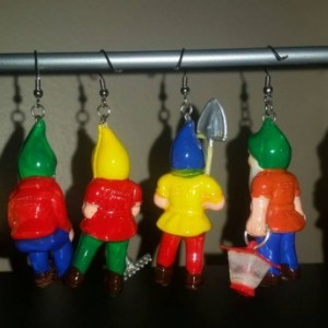 Vintage Gnome Earrings