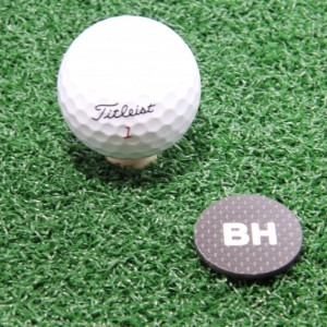 Personalized Carbon Fiber Golf Ball Marker Designed and Made in North Carolina