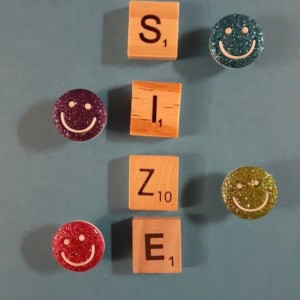 Magnets, 4 Strong Refrigerator Magnets, Cubicle Decor, Locker Magnets, Office Supply,Smiley Face,Smile,Glitter