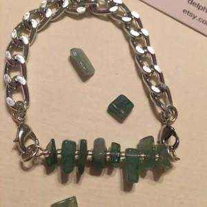 7.5 inches Green Avernturine Bracelet - Aventurine Bracelet