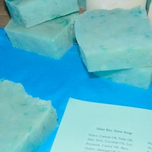 Mint Bayrum Soap Hot Processed Soap 2 Pck