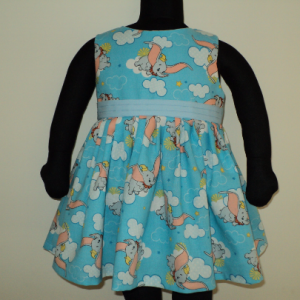 Handmade Disney Dumbo Elephant Blue Dress Custom Sz 12M-14Yrs