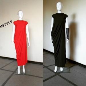 Maxi Dress Red Dress Asymmetrical Dress
