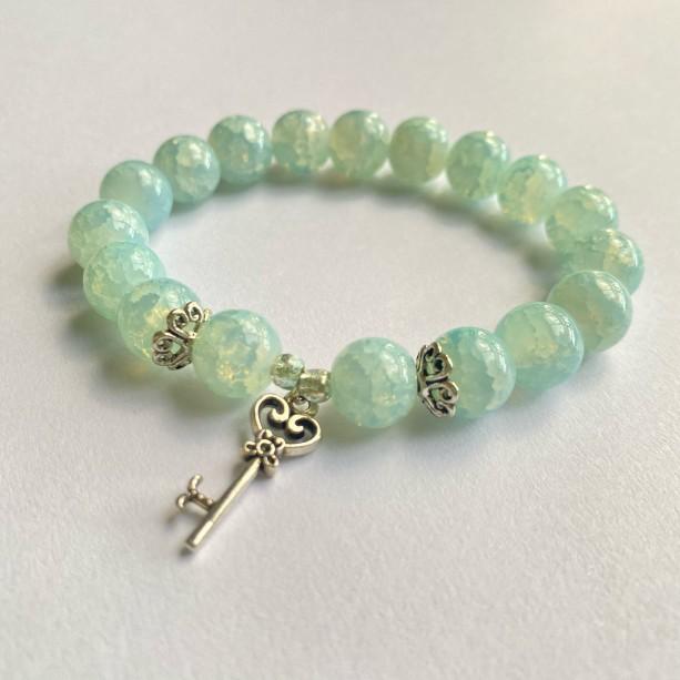 Aqua Key Bracelet