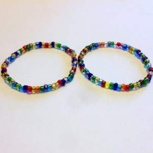 Multicolor Seed Bead Bracelets, Set of 3 Colorful Stackable Stretch Bracelet, Handmade Boho Bracelets, Bright Hippie Seed Bead Bracelet, Gift for Her