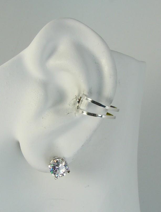 Ear Cuff Silver Non Pierced Cartilage Wrap Earring Fake Conch No Piercing Simple