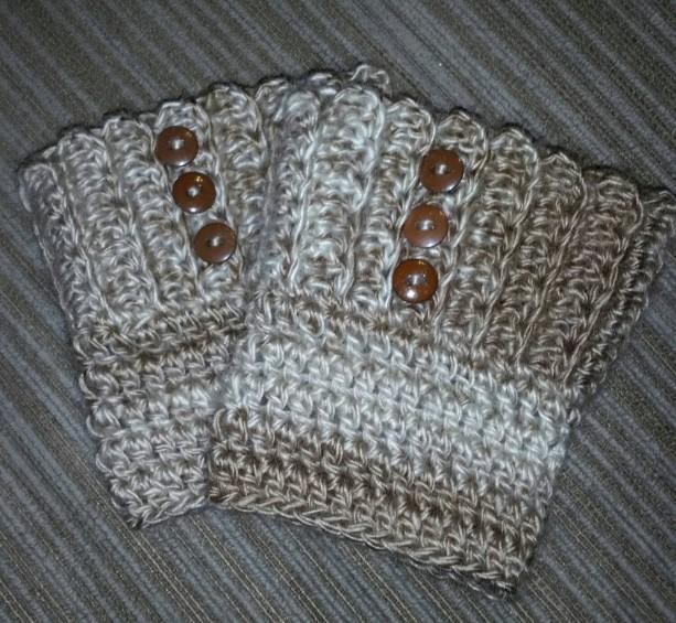 Neutrals Textured Boot Cuffs