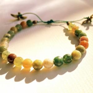Indian Agate & Bird Bracelet