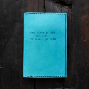 Custom Leather Passport Holder, Passport Cover, Womens Travel Gift (Turquoise Color)
