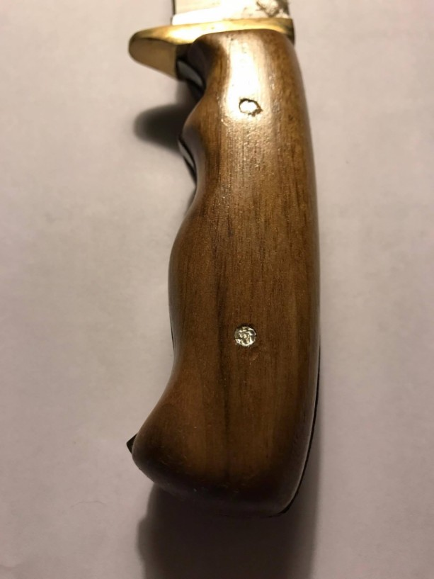 Walnut knife handle